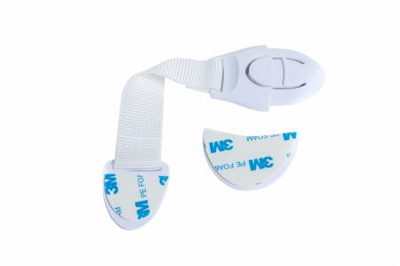 Set 10 sigurante flexibile textile pentru usi si sertare, 20 cm, Alb1