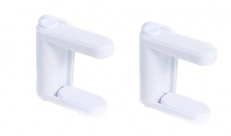 SET 2 blocatoare pentru clanta usa alb0