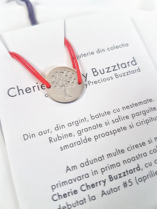 Bratara Cherie Cherry cu ban Infloresc & Copac - argint 925 0