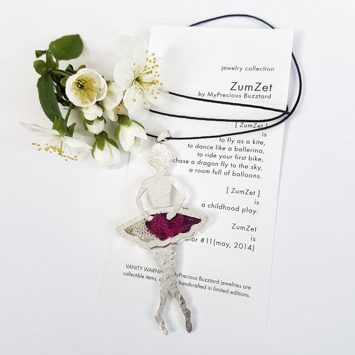 Brosa-pandant ZumZET balerina - argint 925 0
