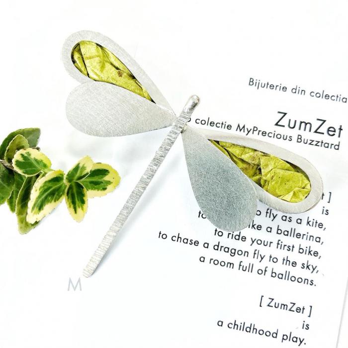 Brosa-pandant ZumZET cu libelula - argint 925 0
