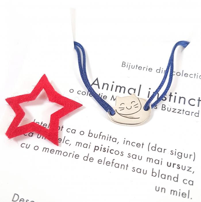 Bratara Animal Instinct pisica - argint 925 0