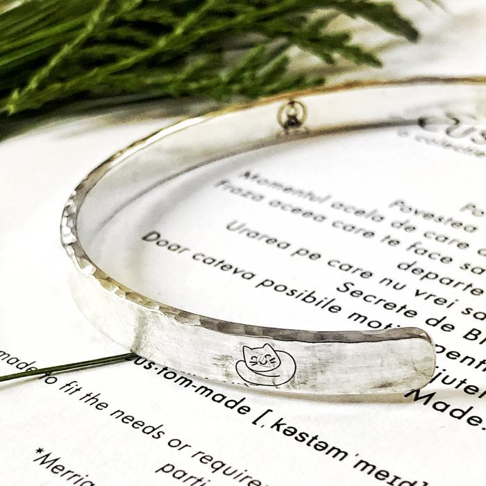 Bratara Custom Made cuff - argint 925 4
