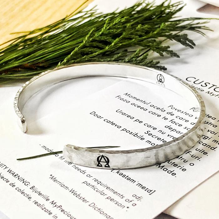 Bratara Custom Made cuff - argint 925 3
