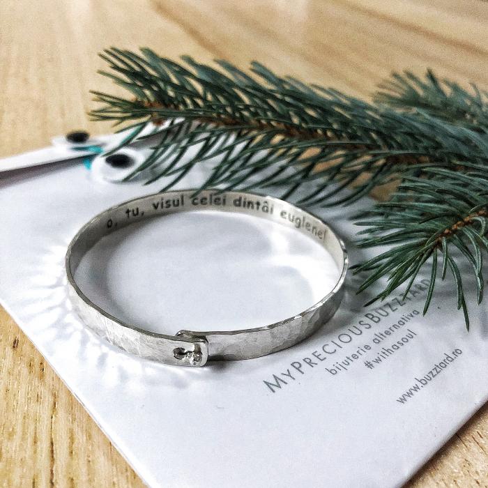 Bratara Custom Made cu bumb - argint 925 0