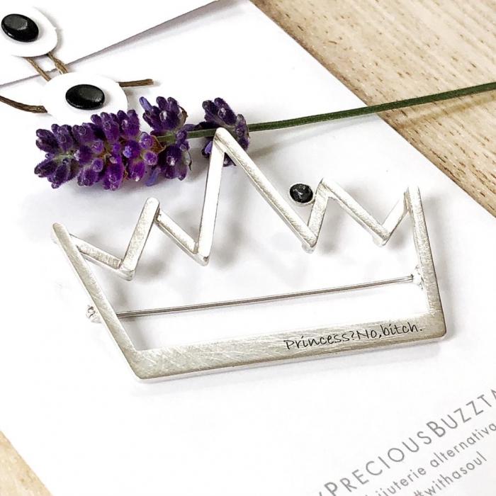 Brosa Fire din poveste - Coroana - argint 925 0