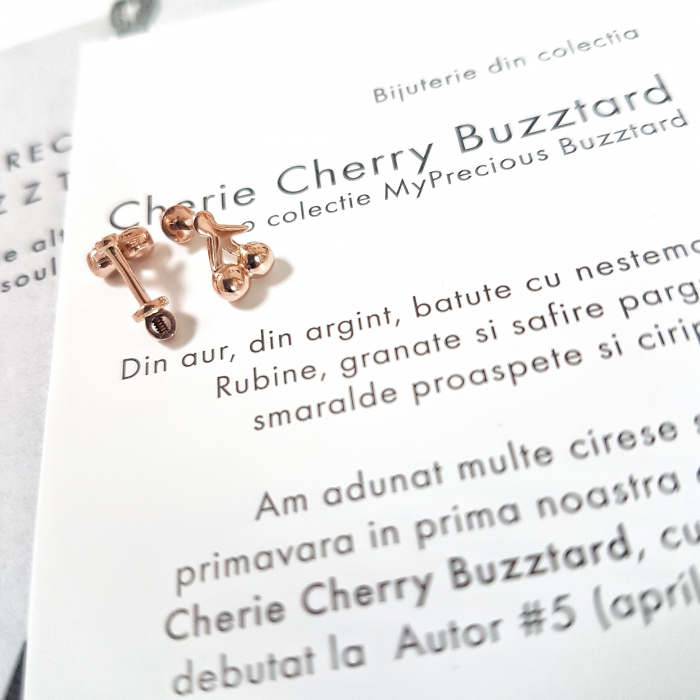 Cercei Cherie Cherry cu filet si cirese - aur 14k 0