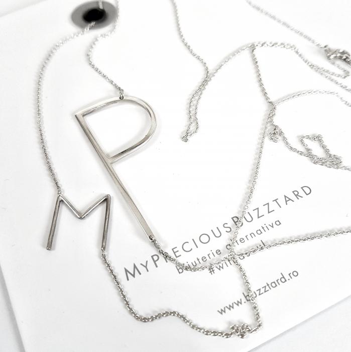 Colier Custom Made cu litera - argint 925 0