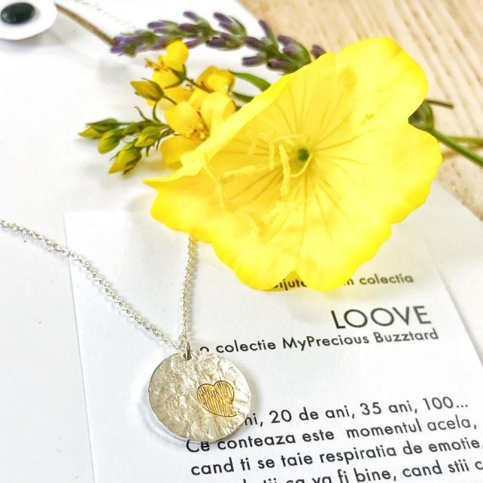 Colier Loove - ban inima - argint 925 0