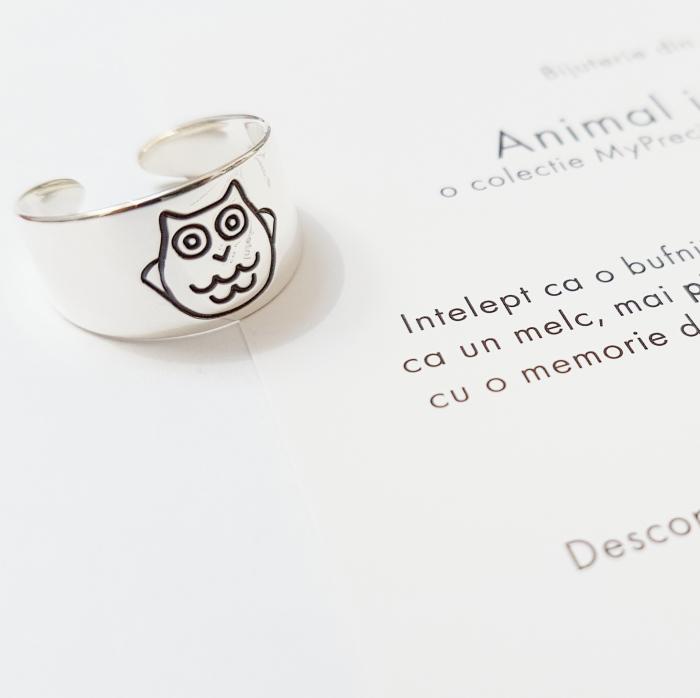 Inel Animal Instinct - inel reglabil, de picior - argint 925 0