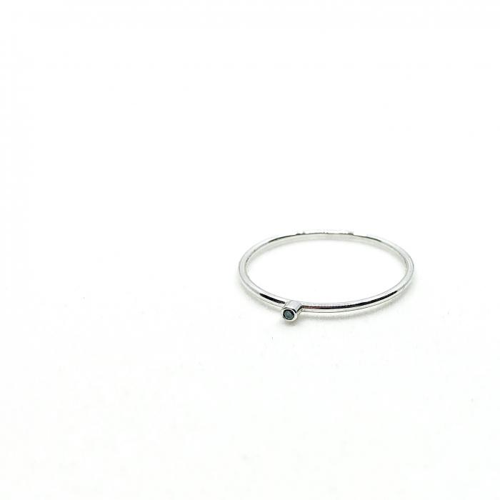 Inel Fire din poveste cu diamant natural negru 1,3 mm - aur 14k 1