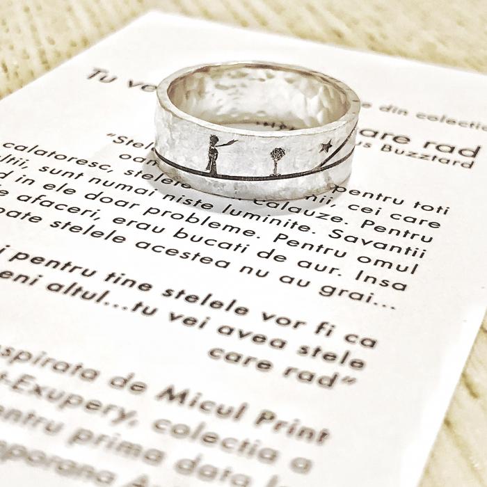 Inel Tu Vei Avea Stele Care Rad - Micul Print - argint 925 [0]