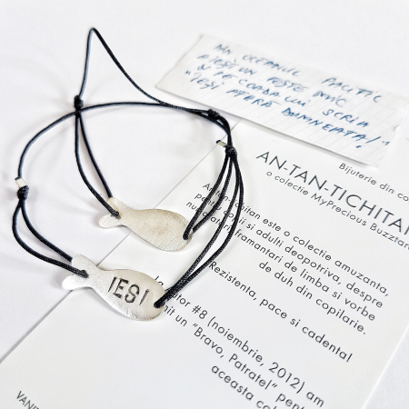 Bratara AN-TAN-TICHITAN - peste mic - argint 9250