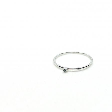 Inel Fire din poveste cu diamant natural negru 1,3 mm - aur 14k2