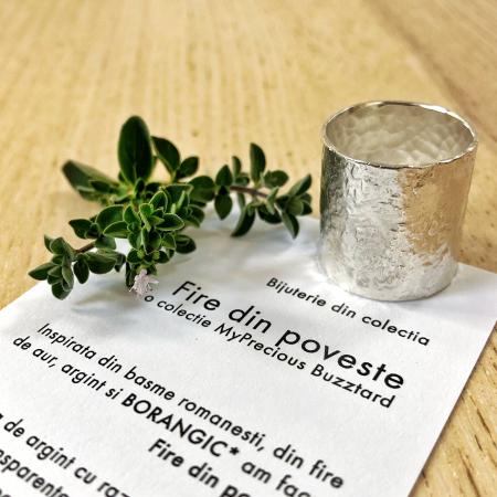 Inel Fire din poveste ciocanit - argint 9251