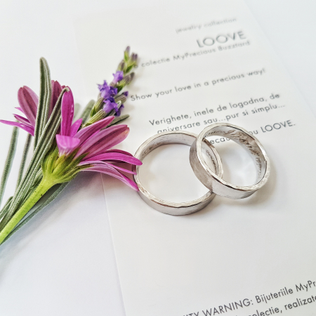 Verighete Fire din poveste - Ciocanit manual - aur 14k2