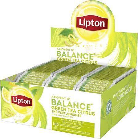 LIPTON Balance Ceai Verde cu Aroma de Citrice 100 plicuri [1]