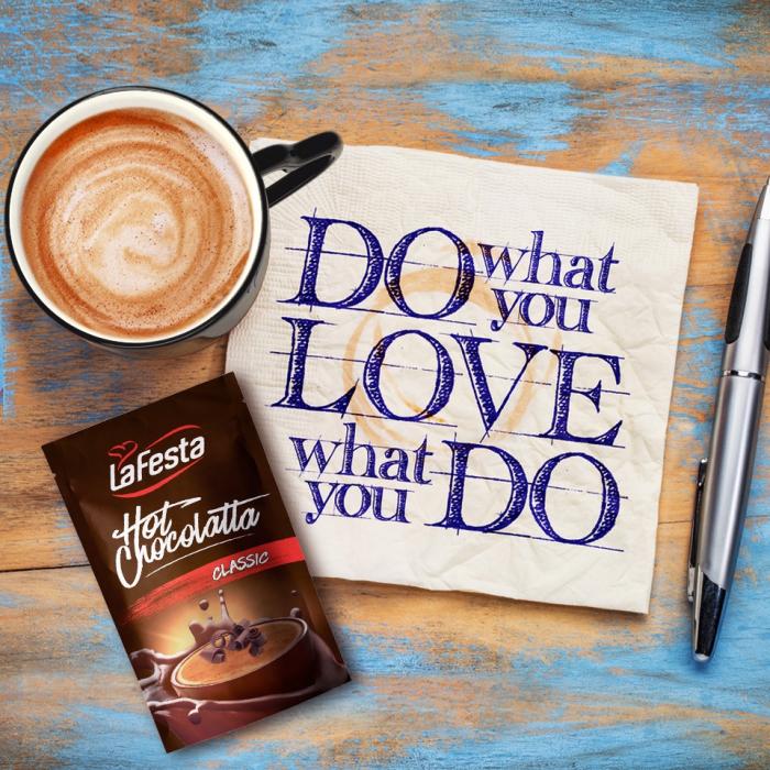LA FESTA Ciocolata Calda cu Gust de Caramel Plic 10x25g [3]
