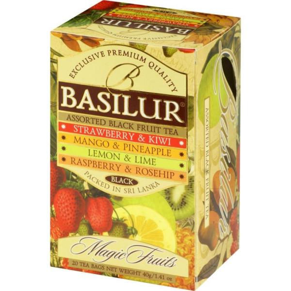 BASILUR Assorted Magic Fruits Ceai Negru cu Fructe 20buc 40g [0]