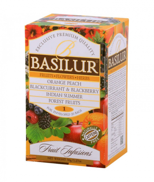 BASILUR Assorted Vol.1 Ceai de Fructe Plic 20buc 36g [1]