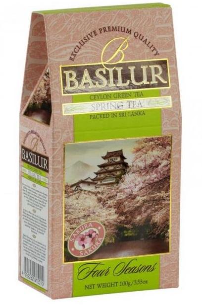 BASILUR Ceai Verde Ceylon cu Fructe Spring Tea 100g [0]