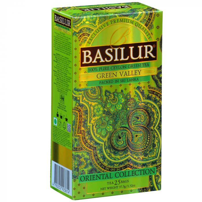 BASILUR Ceai Verde Ceylon Green Valley Oriental Collection 37.5g 25buc [0]