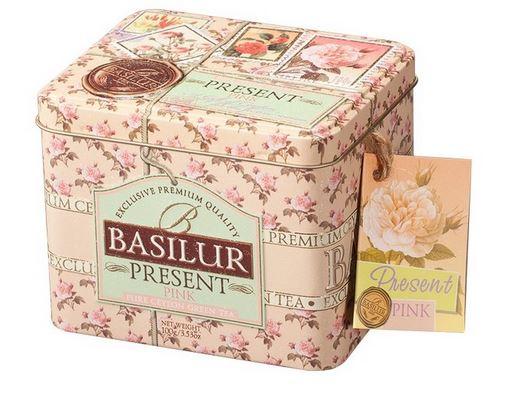BASILUR Ceai Verde Ceylon - Present Pink Cutie Metalica 100g [0]