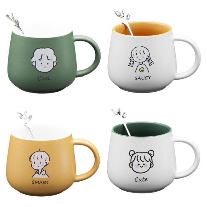 Cană din Ceramică pentru Ceai și Cafea cu Linguriță - Cool [0]