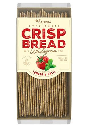 DANVITA Pâine Crocantă din Făină de Grâu cu Rosii si Busuioc 130g [0]