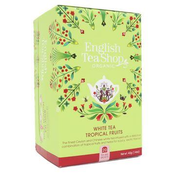 ENGLISH TEA SHOP Ceai Bio Organic White Tea Tropical Fruits 20buc [0]