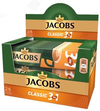 JACOBS 3in1 Classic Mix Cafea Instant Plic 24buc [0]