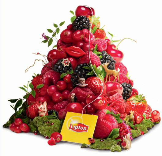 LIPTON Enchanting Berries Ceai Infuzie de Fructe Zmeura si Coacaze Piramide 20x2.1g [1]