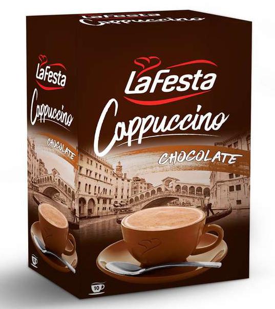 LA FESTA Cappuccino cu Gust de Ciocolata 10x12,5g [2]