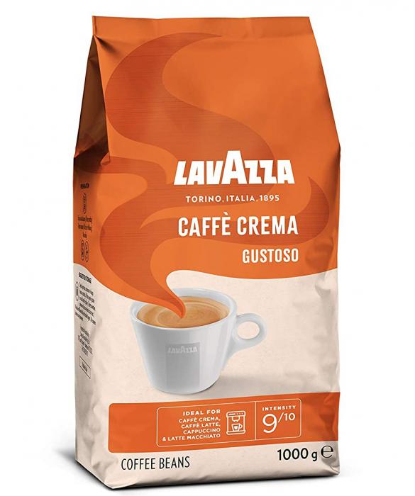 LAVAZZA Caffe Crema Gustoso Cafea Boabe 1Kg [1]