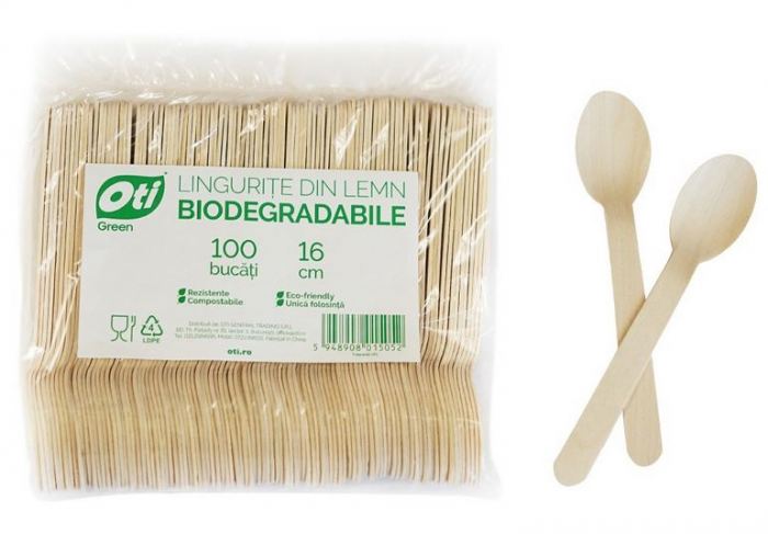 Lingurite de Unica Folosinta din Lemn Eco Friendly Biodegrabile 100buc [2]