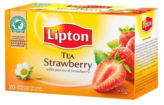 LIPTON Ceai Negru cu Capsuni 20buc [0]