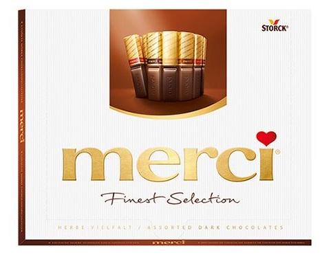 MERCI Mini Tablete de Ciocolata Asortata Cutie Dark 250g [0]