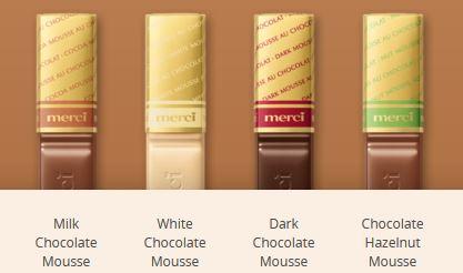 MERCI Mini Tablete de Ciocolata Asortata Cutie Mousse Au Chocolat 250g [1]