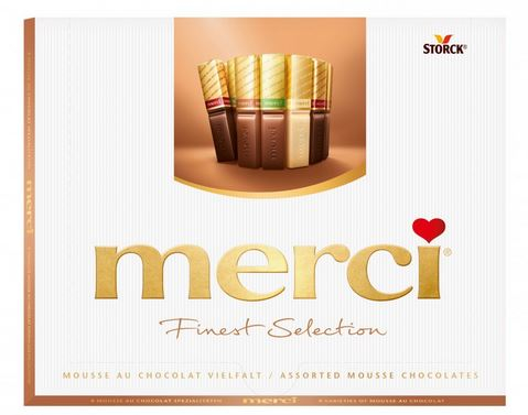 MERCI Mini Tablete de Ciocolata Asortata Cutie Mousse Au Chocolat 250g [0]