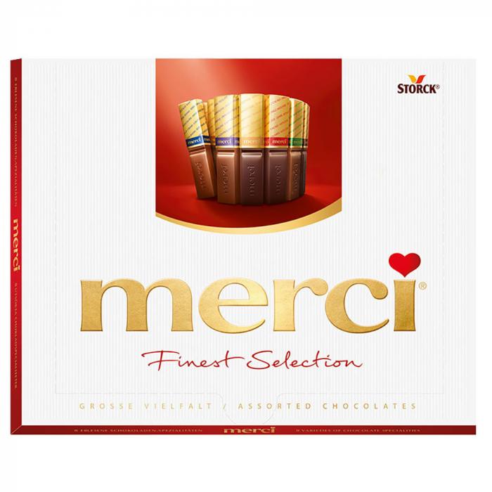 MERCI Mini Tablete de Ciocolata Asortata Cutie Rosie 250g [0]