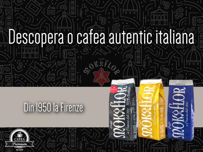 MOKAFLOR 100% Arabica Nero Bernini Cafea Boabe 1Kg [6]