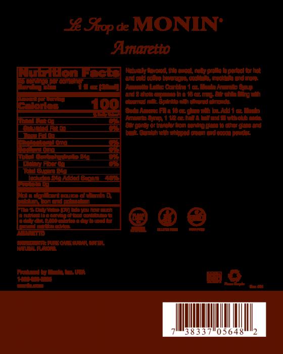 MONIN Amaretto Sirop pentru Cafea 700ml [1]