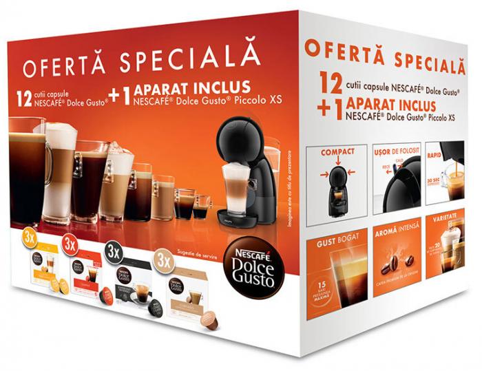 Pachet 12 cutii Capsule Cafea NESCAFE Dolce Gusto + Cadou Espressor NESCAFE Piccolo XS [0]