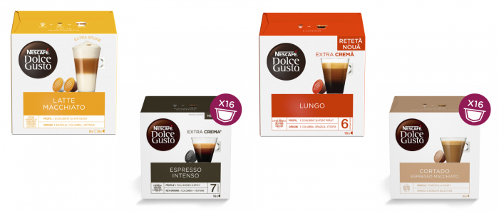 Pachet 12 cutii Capsule Cafea NESCAFE Dolce Gusto + Cadou Espressor NESCAFE Piccolo XS [1]