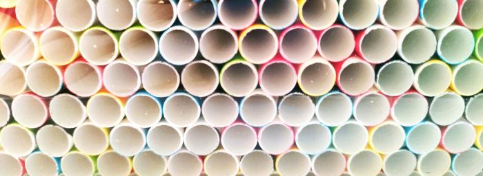 Paie Groase pentru Smootie, Biodegradabile din Hartie de Unica Folosinta - Colorate 250buc [1]