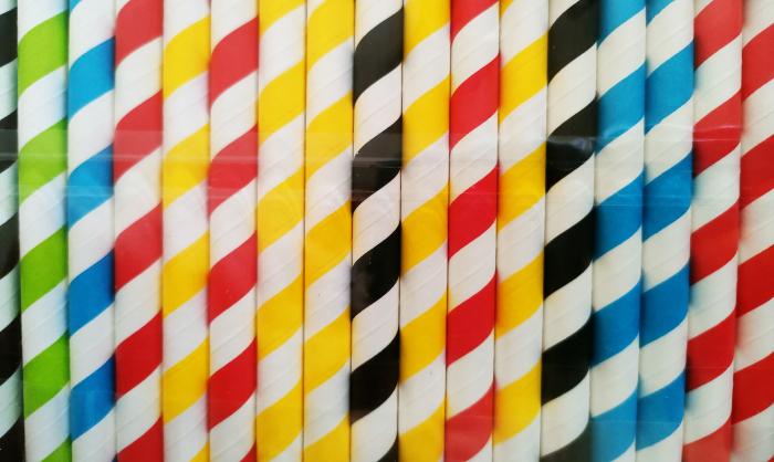 Paie Groase pentru Smootie, Biodegradabile din Hartie de Unica Folosinta - Colorate 250buc [2]