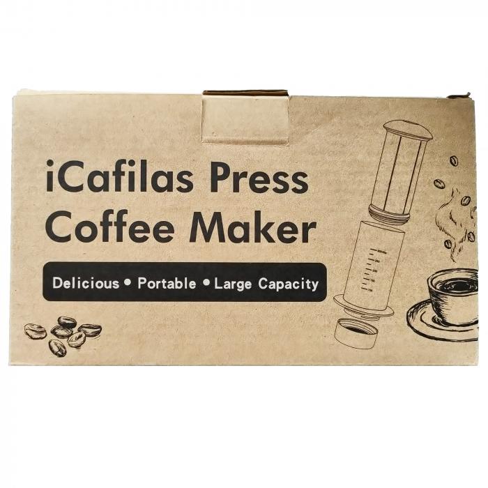 Presă de Aer pentru Prepararea Cafelei - Filtru de Cafea Espresso Manual, Portabil, Capacitate 300ml [9]