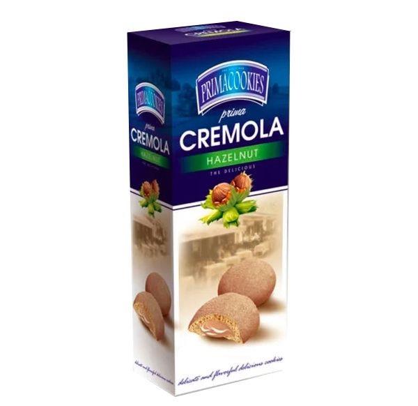 PRIMACOOKIES CREMOLA Biscuiti cu Crema de Alune 150g [0]