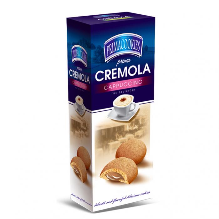 PRIMACOOKIES CREMOLA Biscuiti cu Crema de Cappuccino 150g [0]