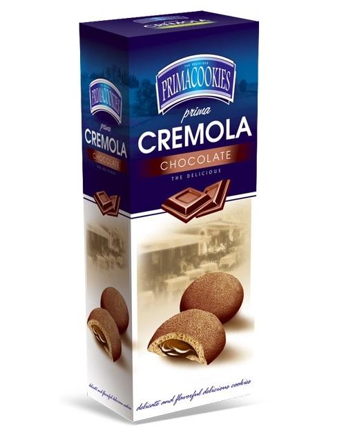 PRIMACOOKIES CREMOLA Biscuiti cu Crema de Ciocolata 150g [0]